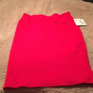 Lularoe Red Pencil Skirt NWT Size Medium